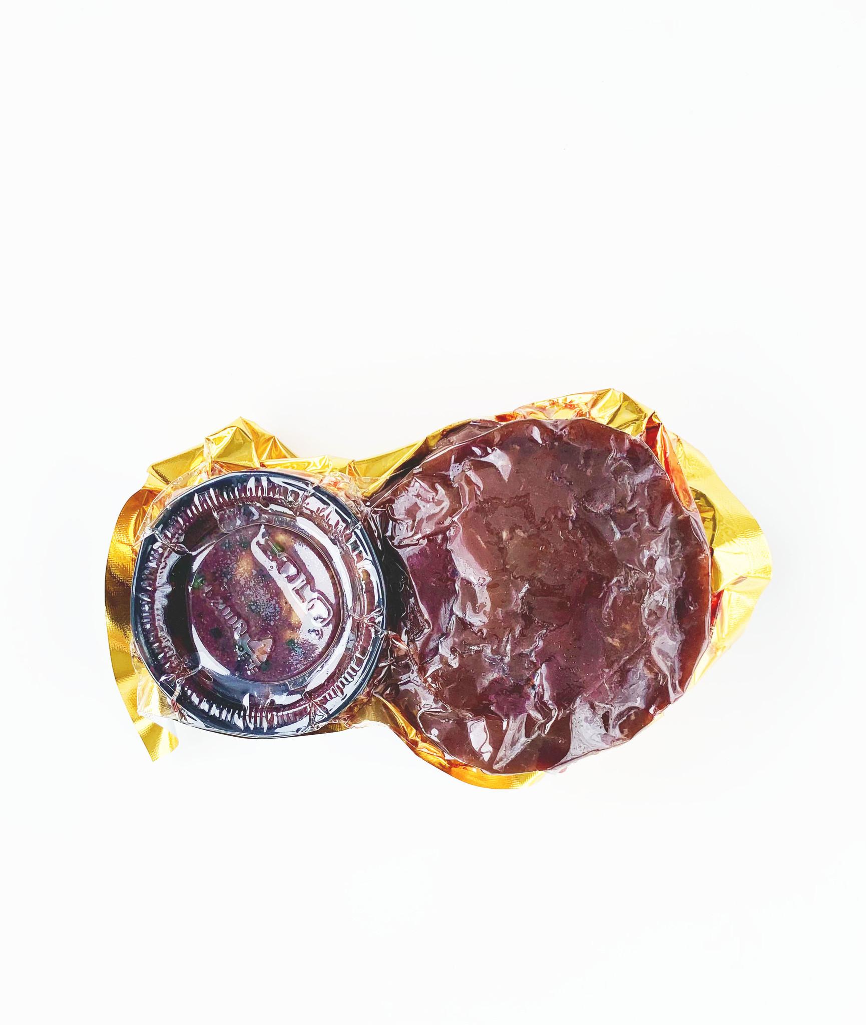 Tartare de cerf boréal aux bleuets & aux graines de tournesol