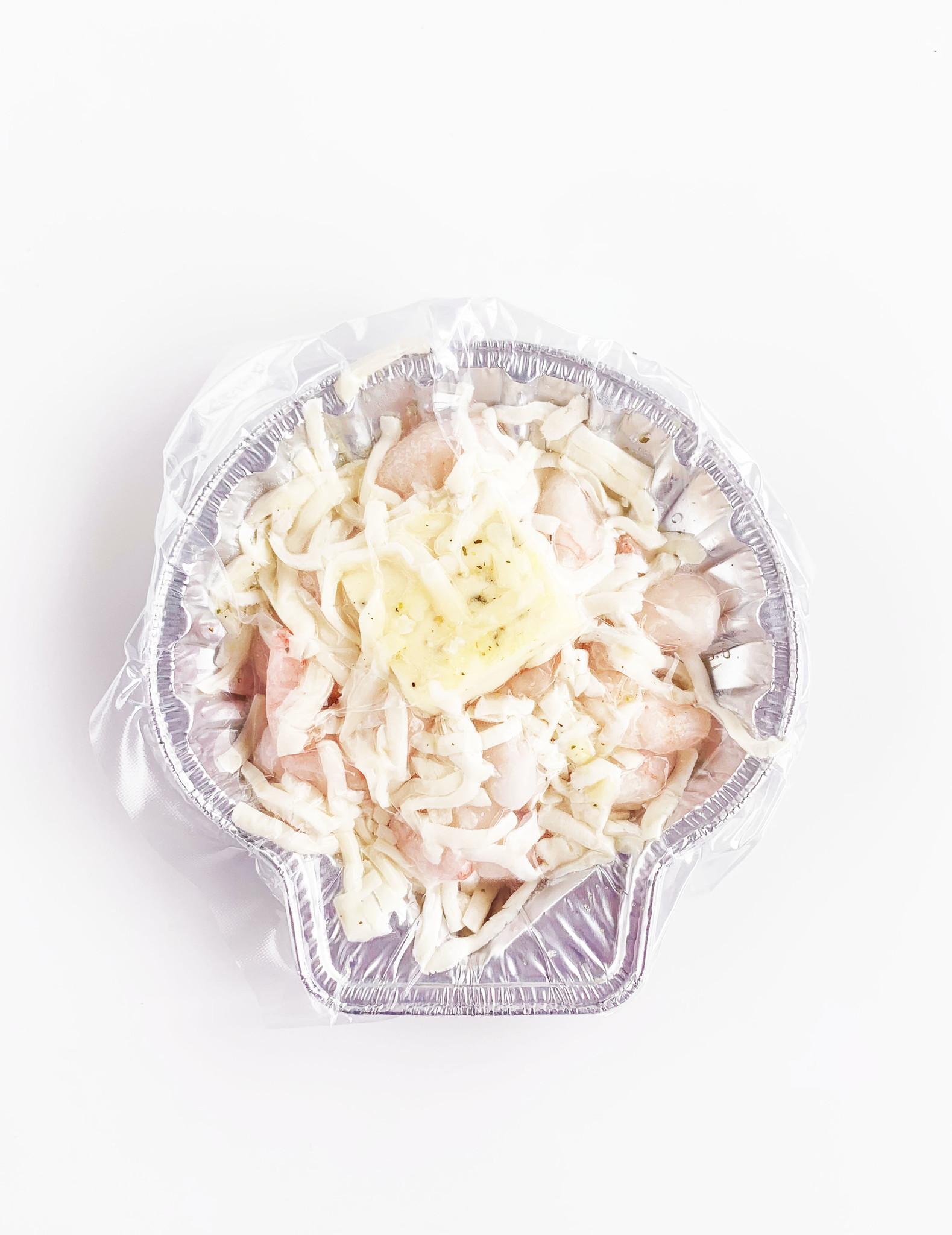 Garlic shrimp au gratin