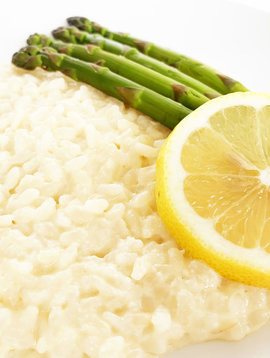 Risotto au citron, aux asperges, au fromage & au vin blanc (325g)