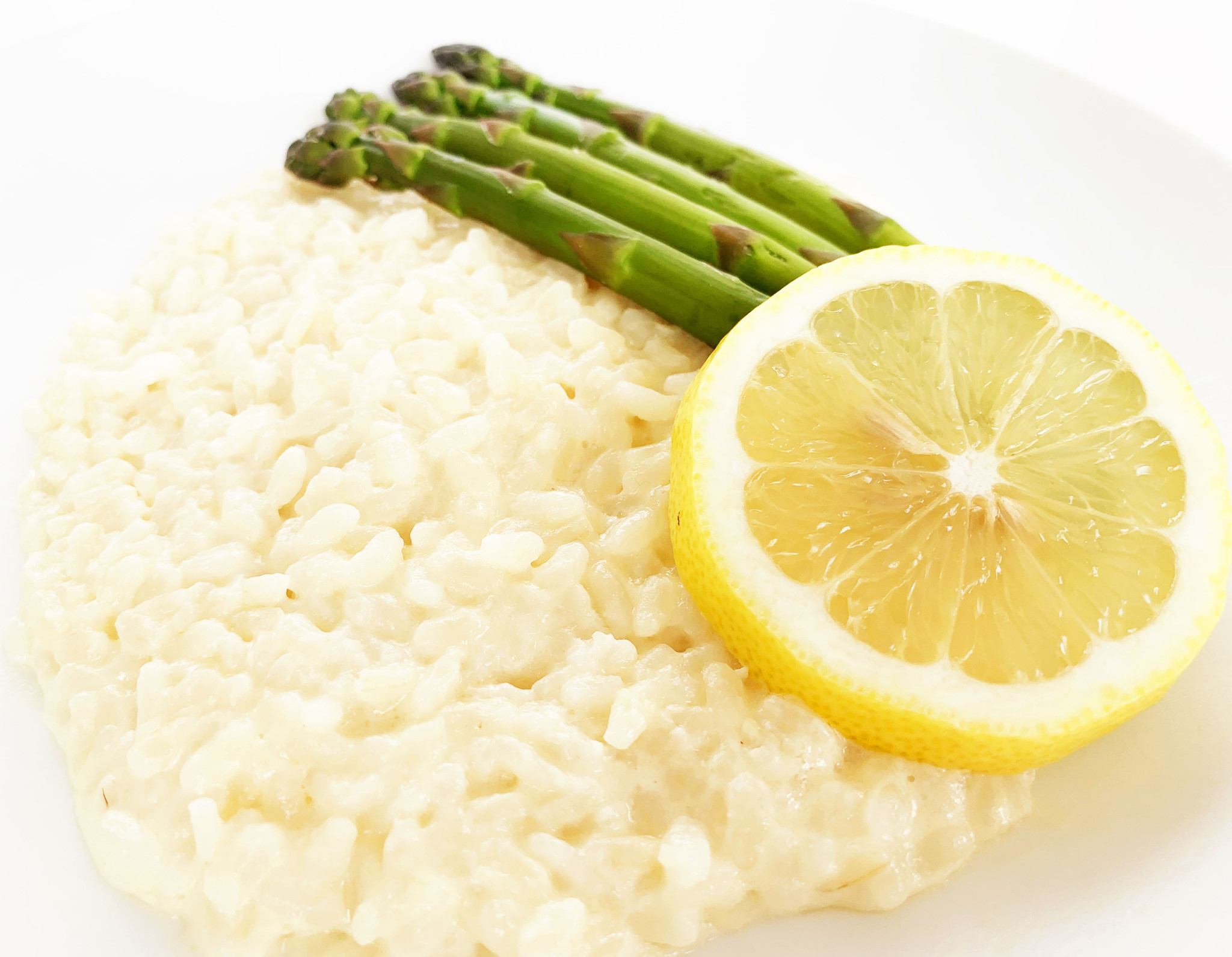 Lemon, asparagus, cheese and white wine risotto (325g)
