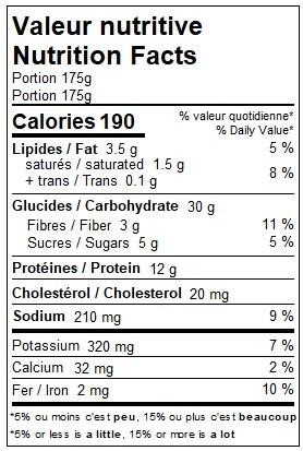 Macaroni à la viande (175g)