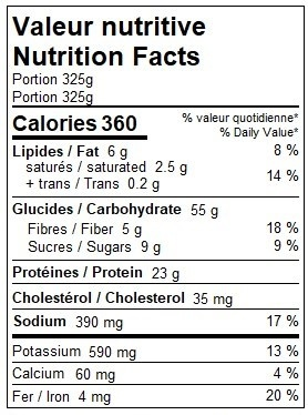 Macaroni à la viande (325g)