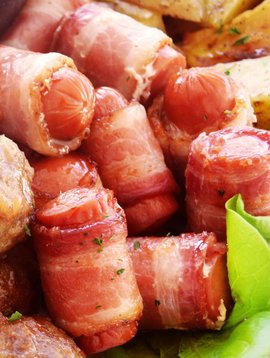 Saucisses & bacon (Circulaire Mars, prix régulier: 11.00$)