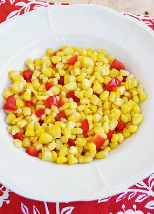 Corn & red bell peppers