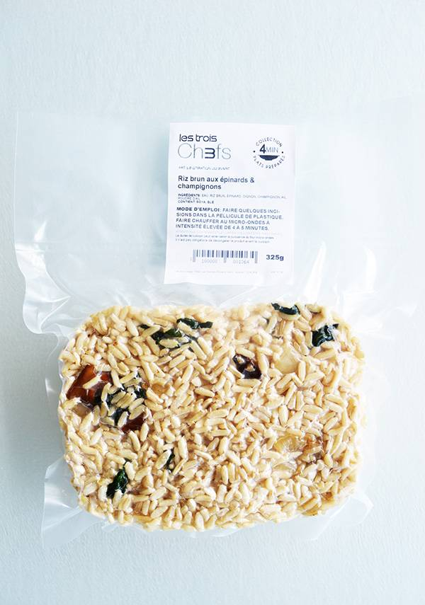 Riz brun épinards & champignons