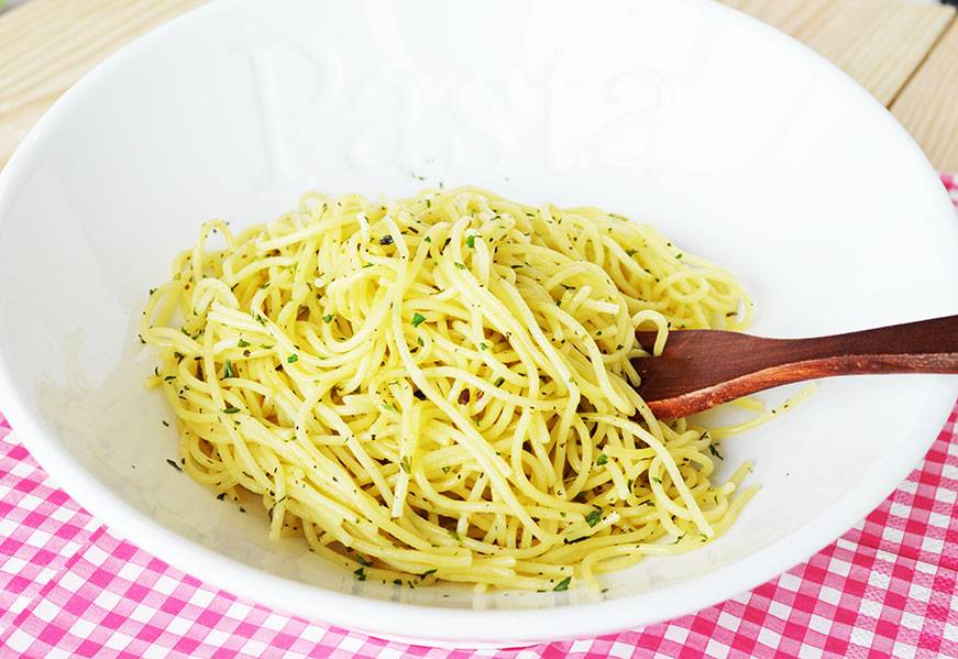 Pasta with butter & herbs