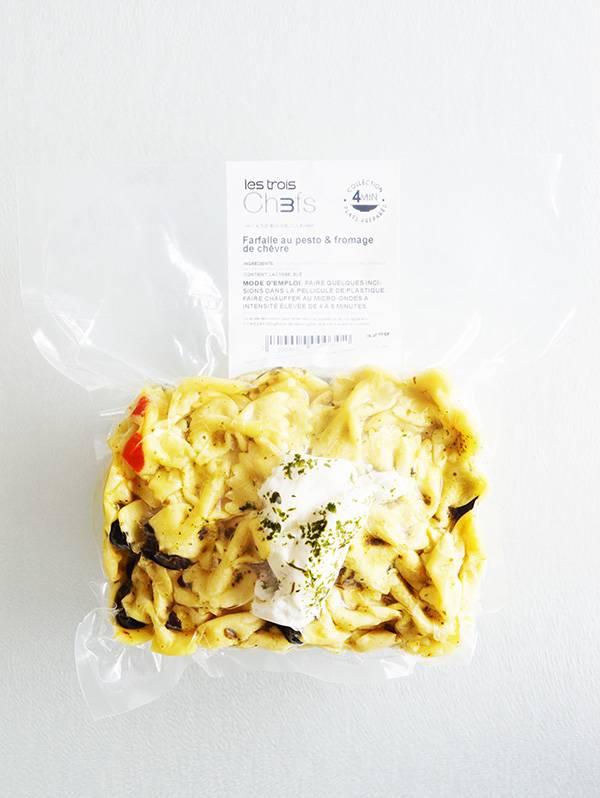 Homemade pesto farfalle & goat cheese (275g)