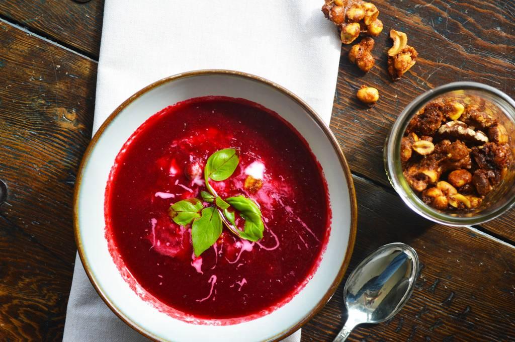 Beetroot & raspberry pottage