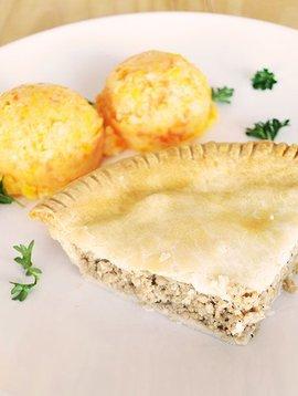 Meat pie & three vegetables mash (175g)