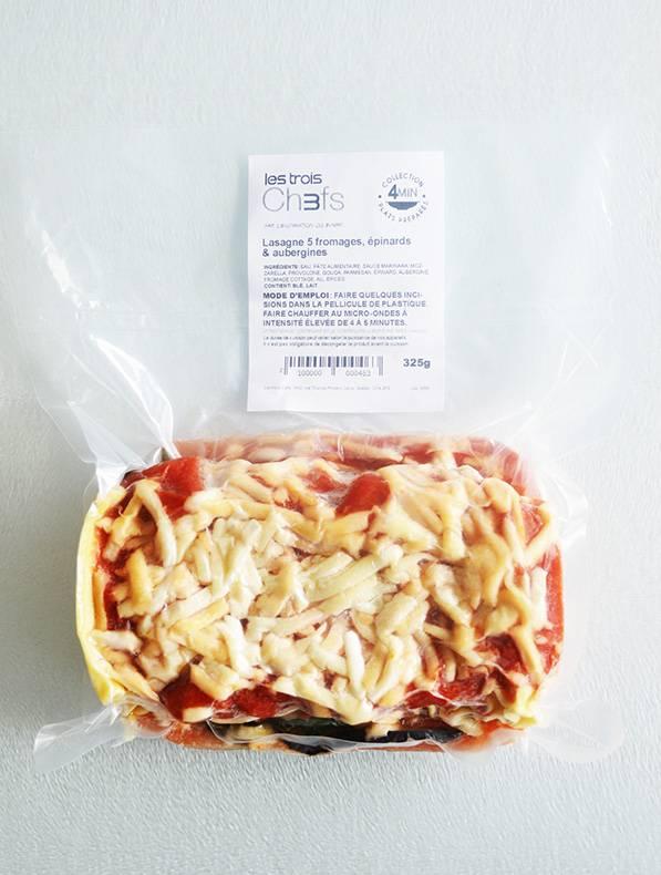 Lasagne 5 fromages, épinards & aubergines (325g)