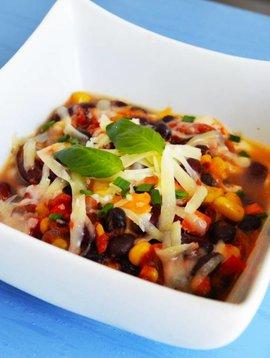 Chili végé aux légumineuses, cheddar & mozza (175 g)