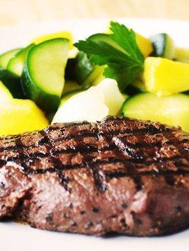 Steak & homemade marinade