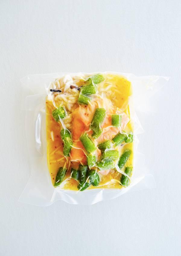 Dijon & maple salmon, green beans & wild rice (175 g)