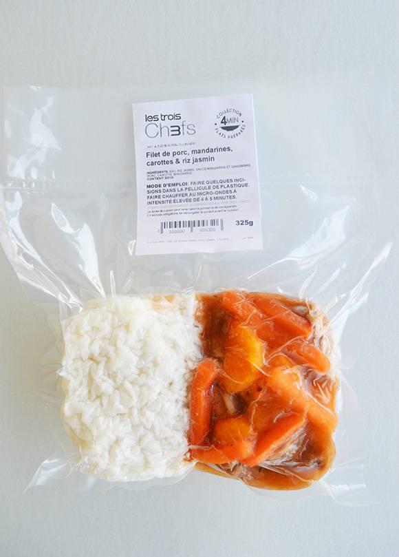 Filet de porc, mandarines, gingembre & riz jasmin (325g)