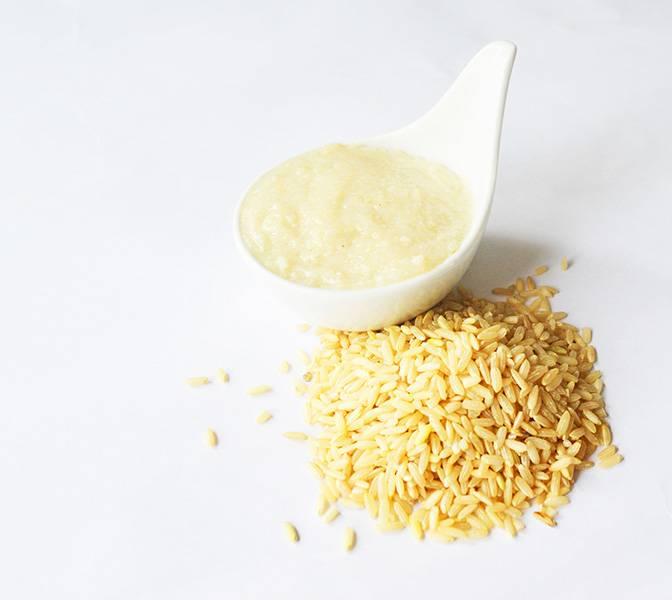 Purée de riz brun