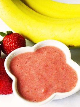 Purée de bananes & fraises (Circulaire Janvier, Prix régulier 5.00)