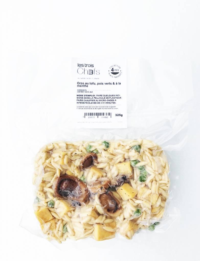 Orzo végétalien au tofu, aux champignons, aux pois verts & à la  menthe (325g)