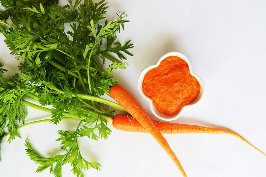 Carrot & Butternut Squash puree