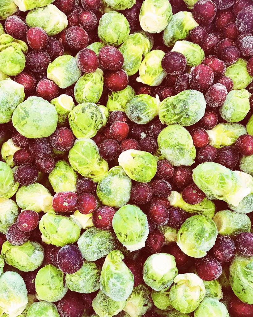 Brussels sprouts & cranberries