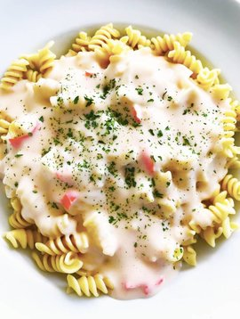 Rotini & sauce alfredo au crabe (175g)