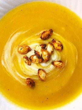 Potage de citrouille, pomme & cari (CIRCULAIRE d'octobre, prix rég: 4.75)