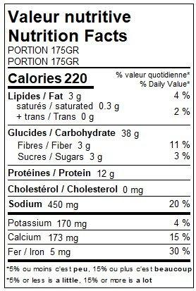 Orzo végétalien au tofu, aux champignons, aux pois verts & à la  menthe (175g)