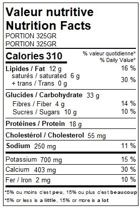 Manicotti marinara sauce, ricotta & spinach (325g)