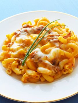 Mac and cheese, butternut squash & pulled pork (175 g)