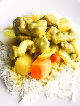 Vietnamese curry chicken, vegetables & basmati rice (325g)