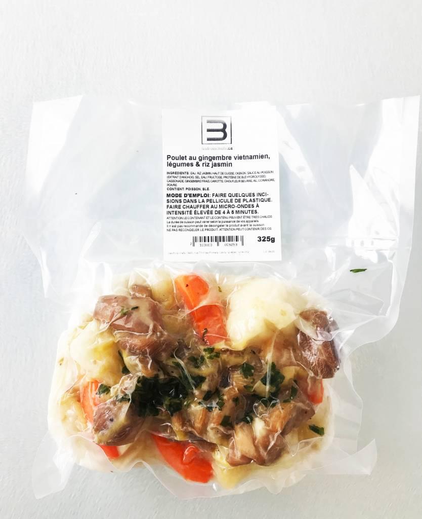 Vietnamese ginger chicken, vegetables & basmati rice (325g)