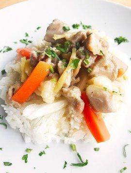 Poulet au gingembre vietnamien, légumes & riz jasmin (325g)