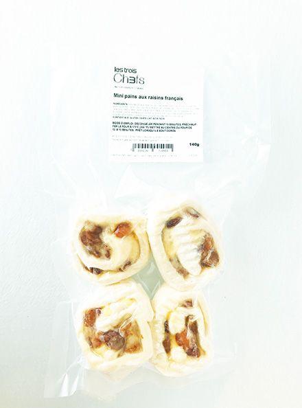 Mini pains français aux raisins  ( Circulaire Janvier, prix régulier: 4.00)