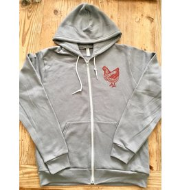 Blockhead Press Petaluma Chicken - Zip Up Hoodie
