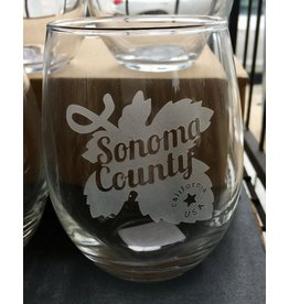 Sonoma County Stemless Wine Glass (15 oz.)
