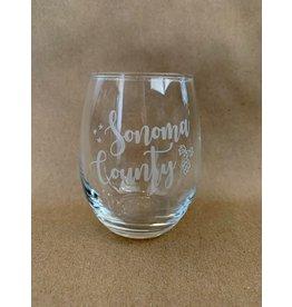 Stemless Wine Glass (9 oz.) - Sonoma County