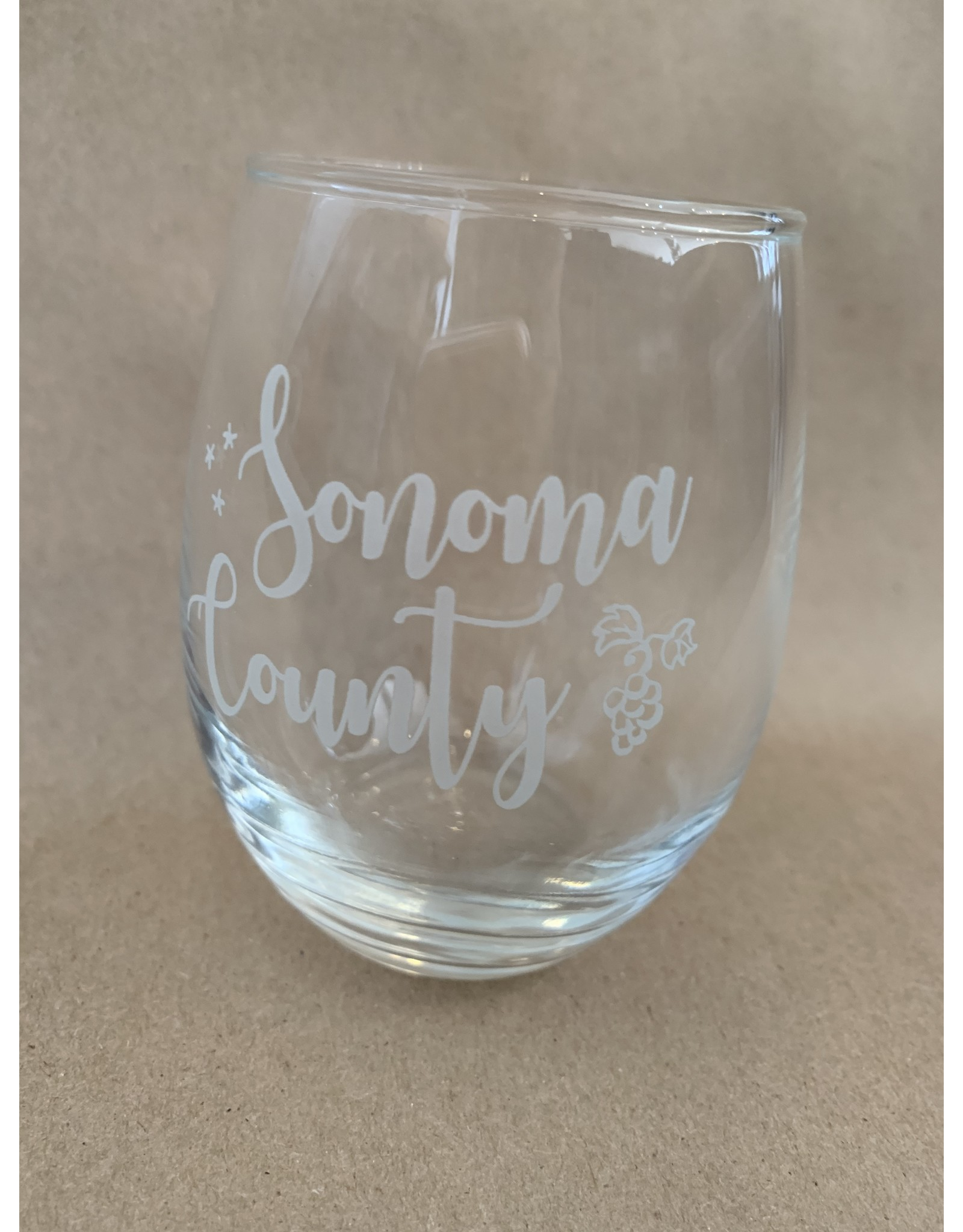 Stemless Wine Glass (9 oz.) - Sonoma County
