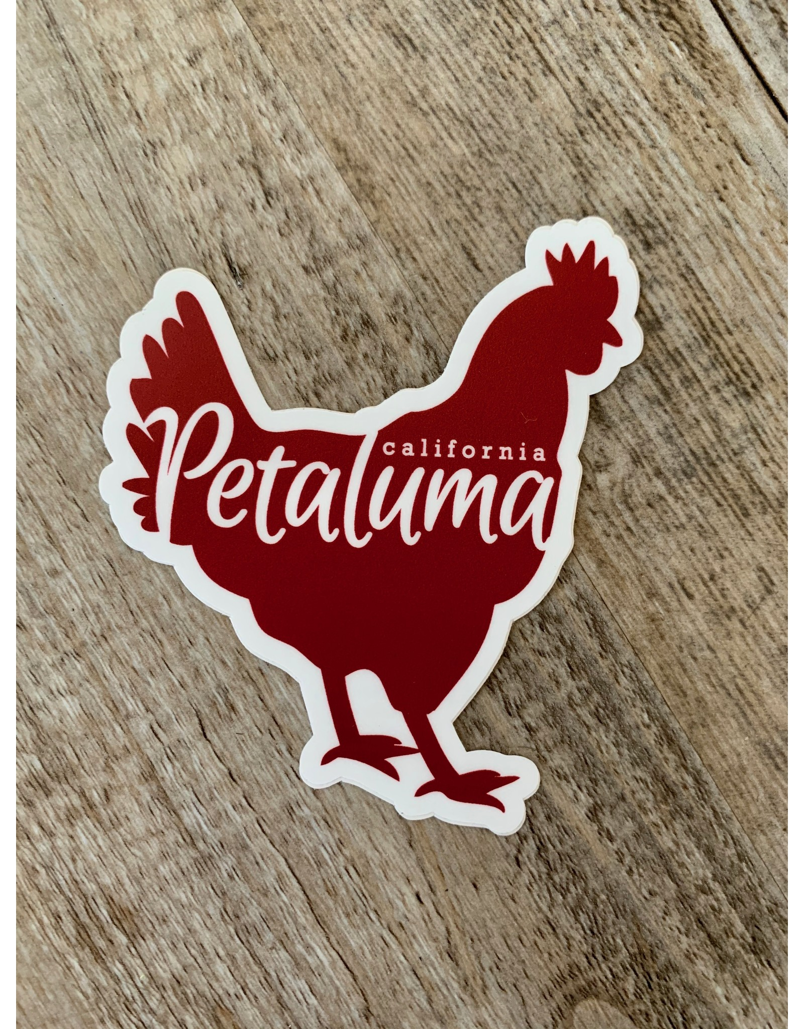 Blockhead Press Chicken Silhouette Die Cut Sticker