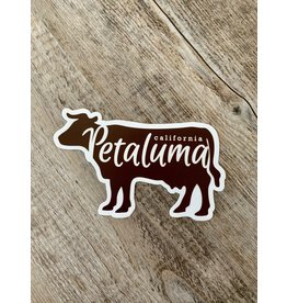 Blockhead Press Cow Silhouette Die Cut Sticker