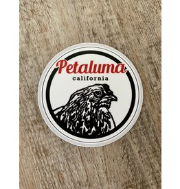 Blockhead Press Petaluma Chicken - Round Decal