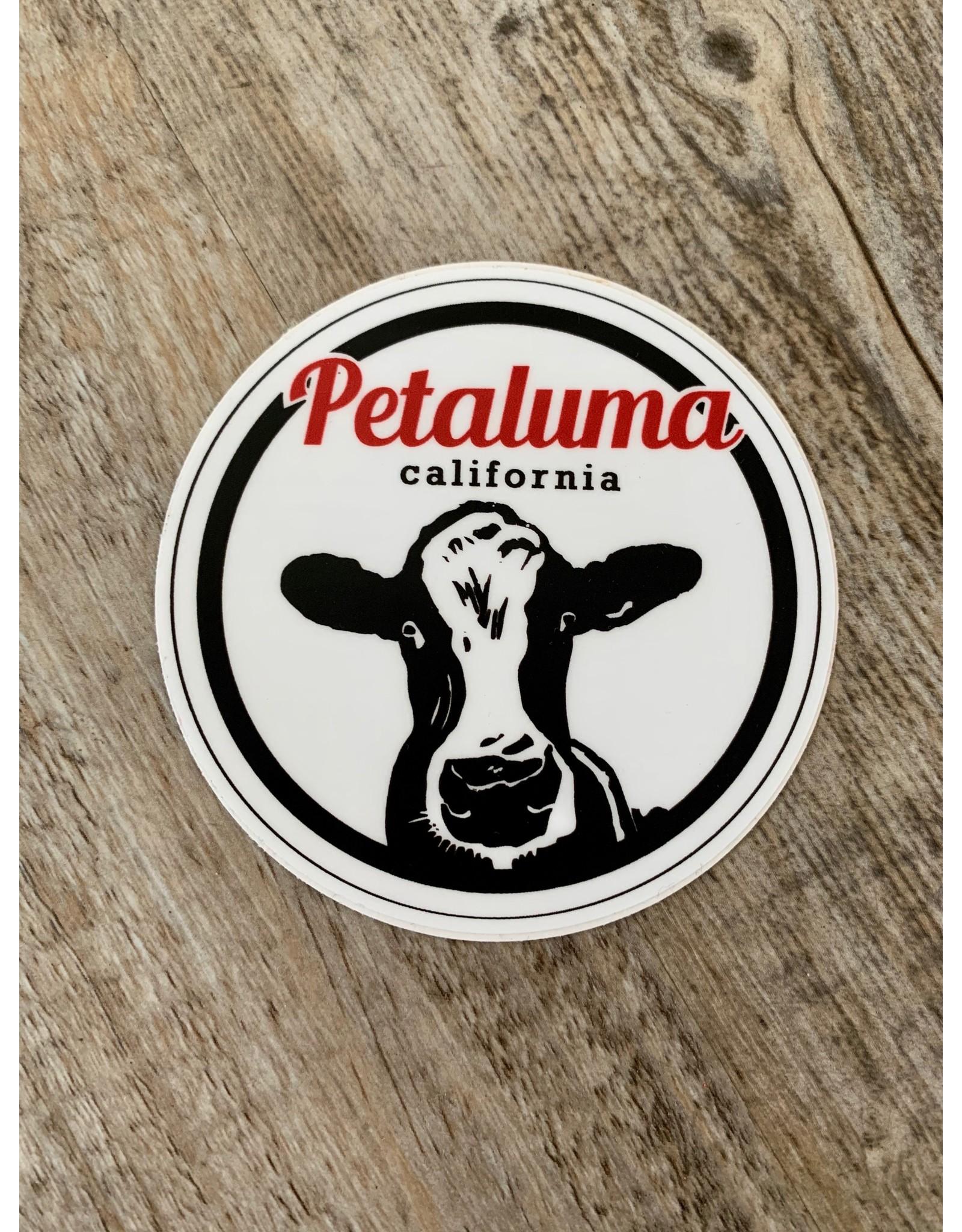 Blockhead Press Petaluma Cow - Round Decal