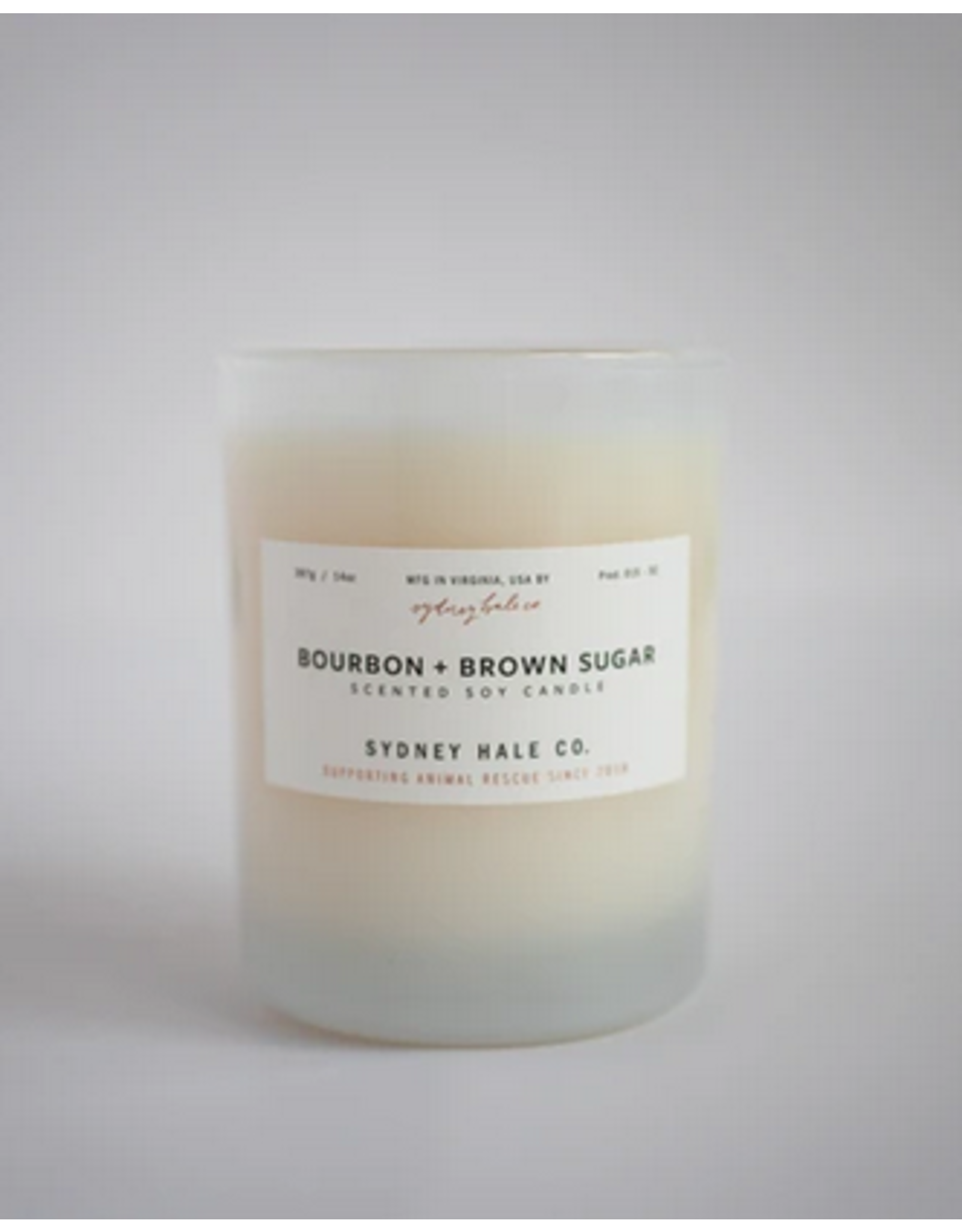 Sydney Hale Co. Clear Glass - Bourbon & Brown Sugar