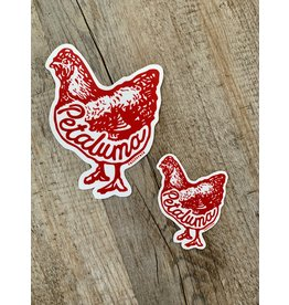 Blockhead Press Petaluma Chicken - Small Die Cut Decal