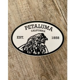 Blockhead Press Petaluma Oval Petaluma Decal
