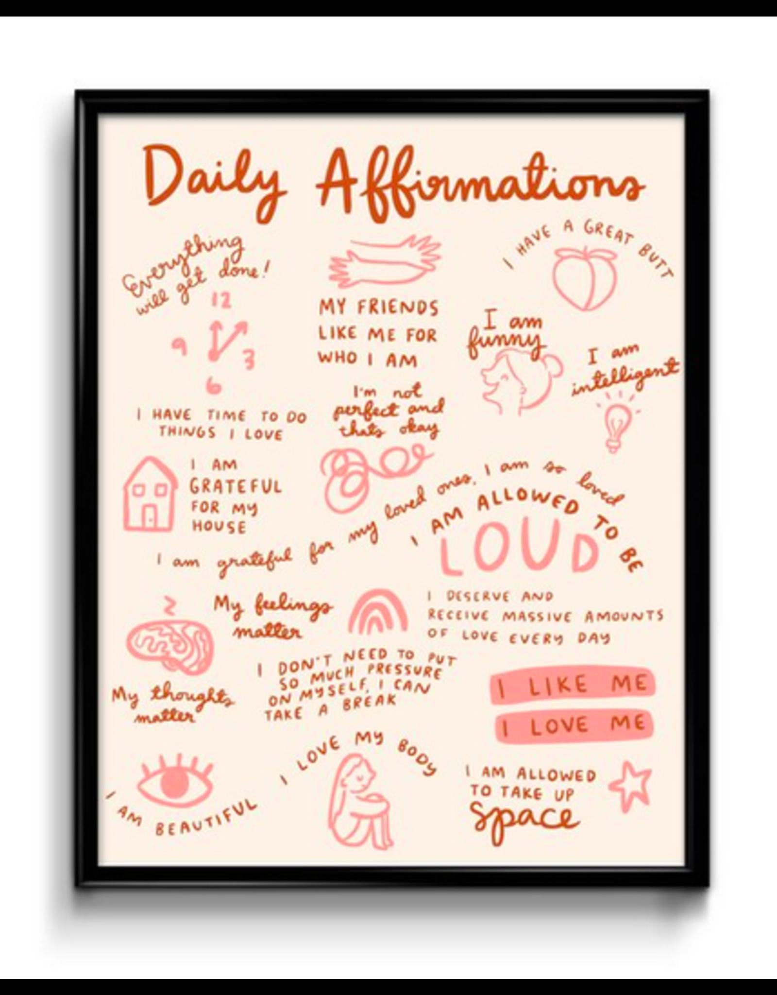 Abbie Paulhus Affirmations - 8x10 Art Print