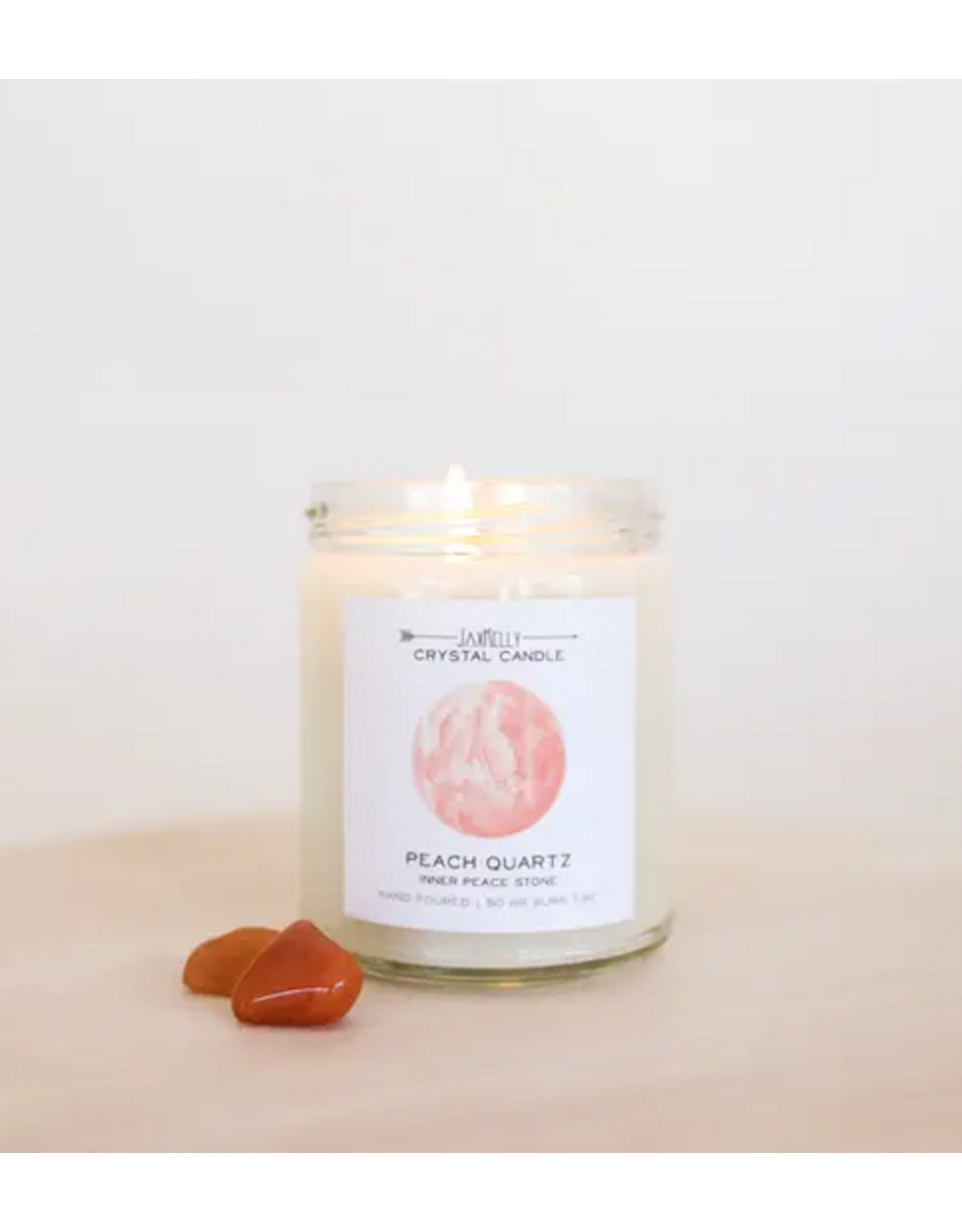 JaxKelly 9 oz. Peach Quartz Crystal Candle