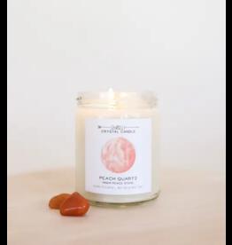 JaxKelly 9 oz. Peach Quartz Crystal Candle