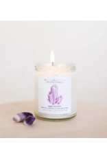 JaxKelly 9 oz. Amethyst Crystal Candle