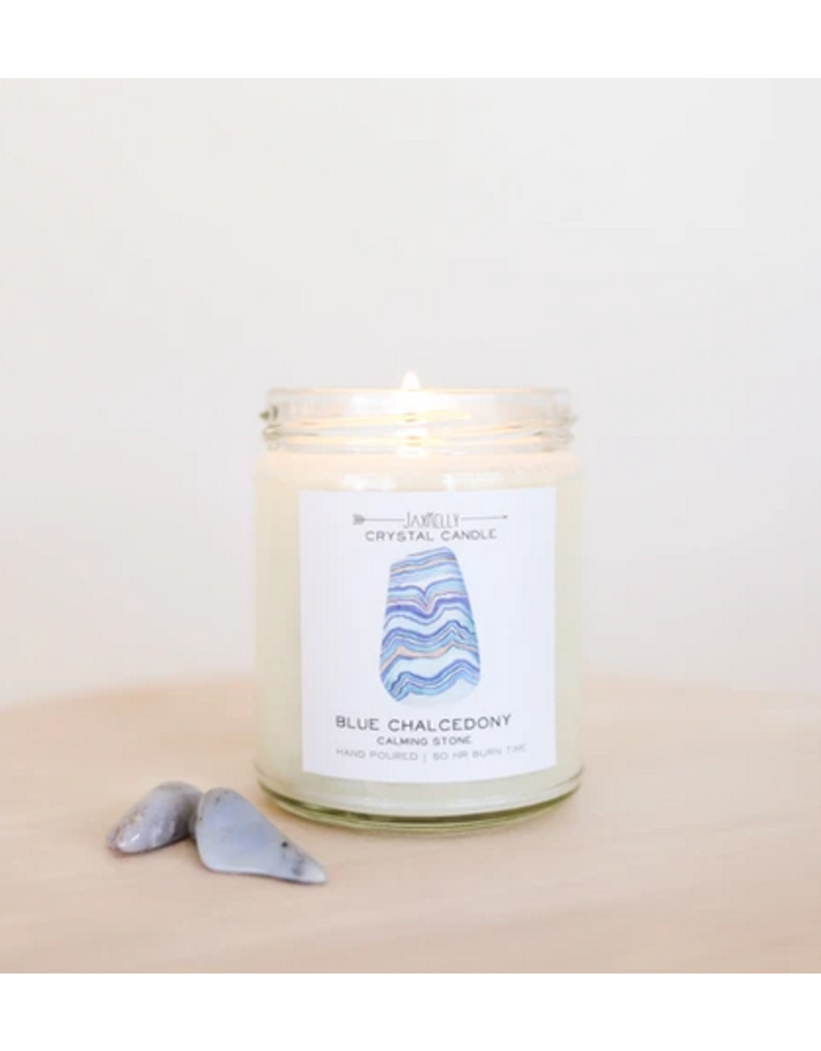 JaxKelly 9 oz. Blue Crystal Candle