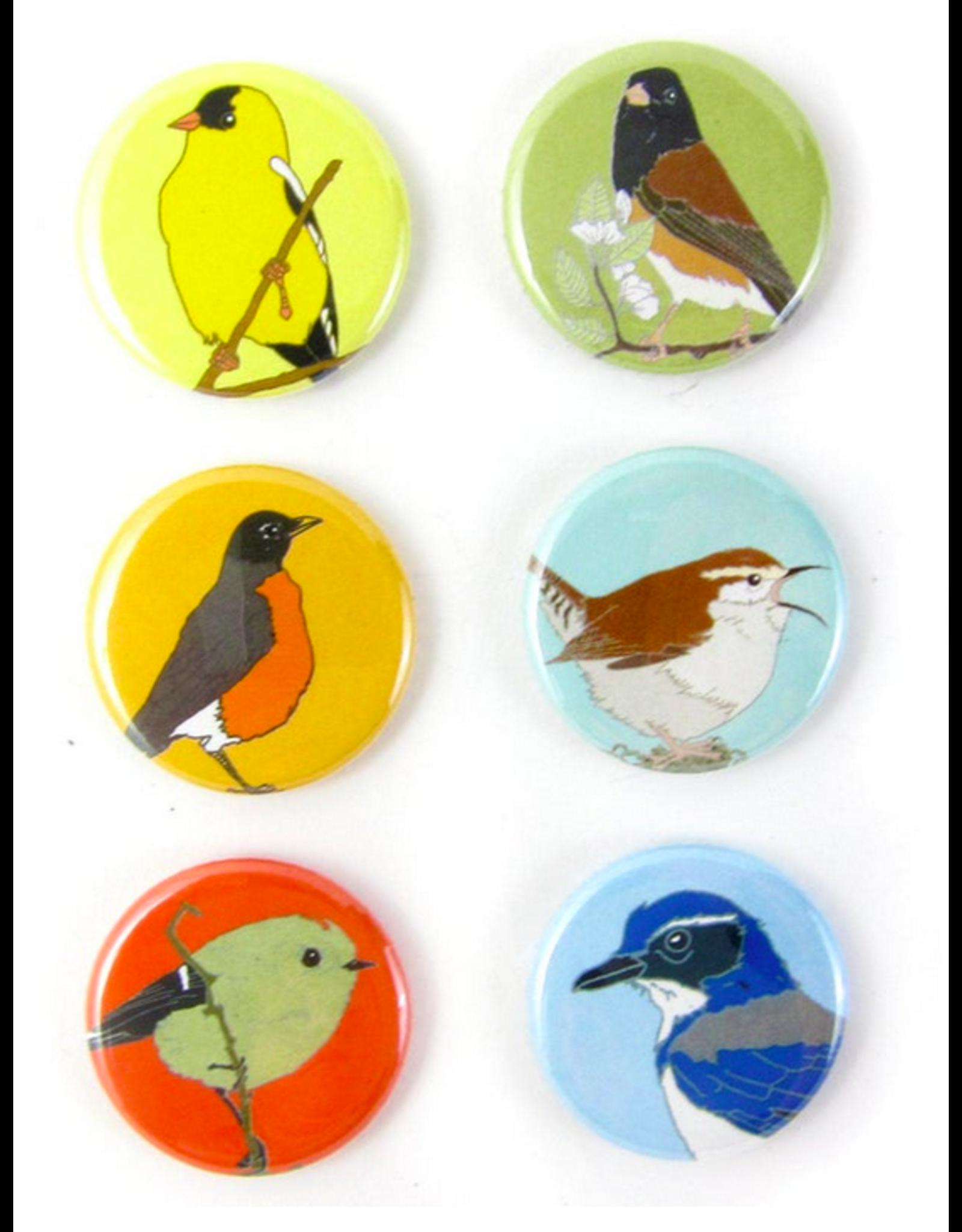 Bird vs Bird Birds - Western Backyard - Coaster Set