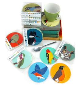 Bird vs Bird Birds - Western Backyard - Coaster Set